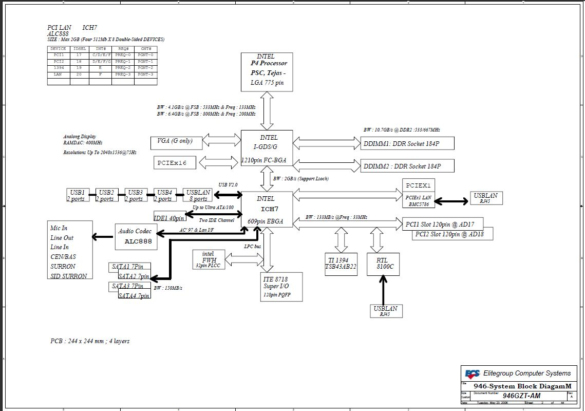 Schematic ECS 946GZT AM